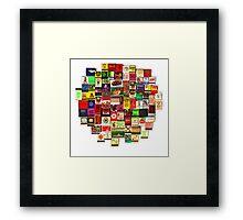 """""""82 Matchbooks"""" Framed Print"""