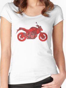 'Zook Gladius Motorcycle Women's Fitted Scoop T-Shirt