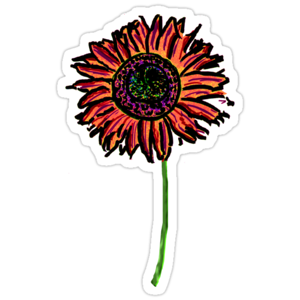 Red Himawari - Zen Sunflower by Weber Consulting