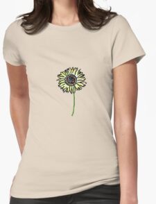 Himawari - Zen Sunflower Womens Fitted T-Shirt