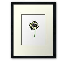 Himawari - Zen Sunflower Framed Print