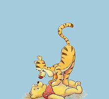 Winnie the Pooh and Tigger by yuyi472