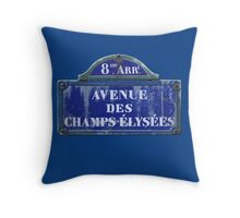 Champs Elysees 8th Arrondissement of Paris Throw Pillow