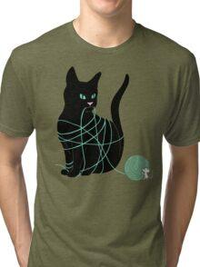 Caught Cat Tri-blend T-Shirt