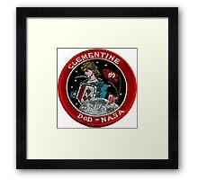 NASA DoD Clementine Mission Logo Framed Print