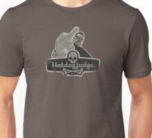 The Hotdogjudge flips the bird (grunge) Unisex T-Shirt