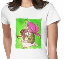 Faerie Reading  Womens Fitted T-Shirt