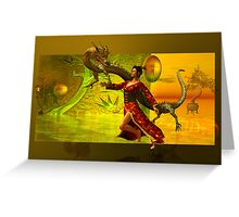 the dragon....oriental Greeting Card