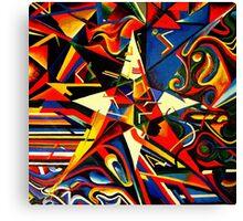 intermixing Color Star  Canvas Print