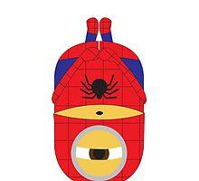 Despicable Me Minions Superheros Spiderman by dorothy w Jones