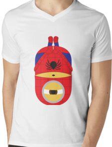 Despicable Me Minions Superheros Spiderman Mens V-Neck T-Shirt