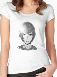 Epic Anime Dude Face Women's Fitted Scoop T-Shirt