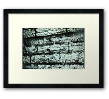 Chicago's tattered wall~ Framed Print