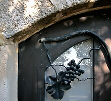 Iron Wrought Grapes - Safed, Israel by Mary Ellen Garcia