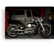 Evolution's Custom 1973 Iron Head Sportster Canvas Print