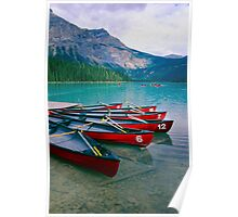 Canoes  at a Dock Poster