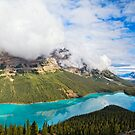 Peyto Lake Reflections by George Oze