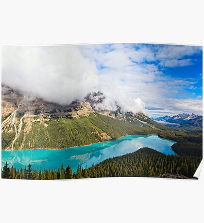 Peyto Lake Reflections Poster