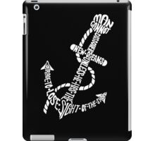 Discover New Oceans (White) iPad Case/Skin