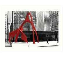 Flamingo Sculpture Art Print