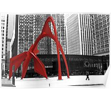 Flamingo Sculpture Poster