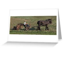 Cutting the Fields Greeting Card