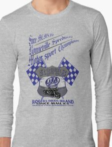 usa warriors motorcycle by rogers bros Long Sleeve T-Shirt