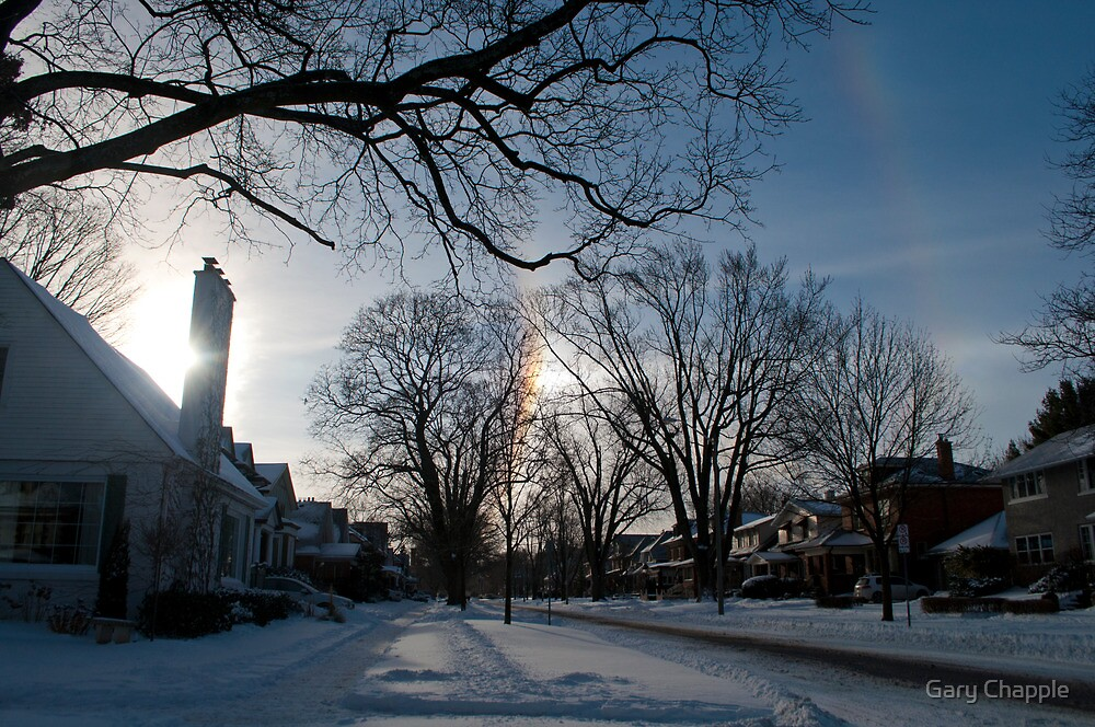 Oshawa Sun Dog And Halo by Gary Chapple