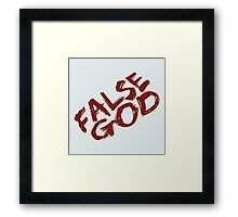 false god - bvs Framed Print