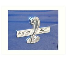 Shelby 40th Anniversary Badge Art Print