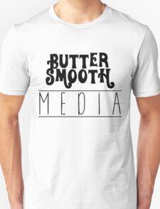 Original ButterSmoothMedia Black on White Unisex T-Shirt