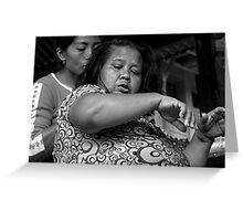 Two women of Bali. Greeting Card