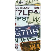 Old American Car Licence Plates  iPhone Case/Skin