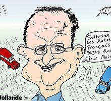François Hollande auto dessin by Binary-Options