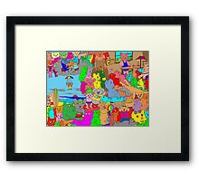 Bears on vacation Framed Print