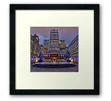 Canary Wharf - London - 4 - HDR Framed Print