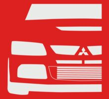 Mitsubishi Lancer Evolution Close Up Zoom - T Shirt / Phone Case Design  by TheStickerLab