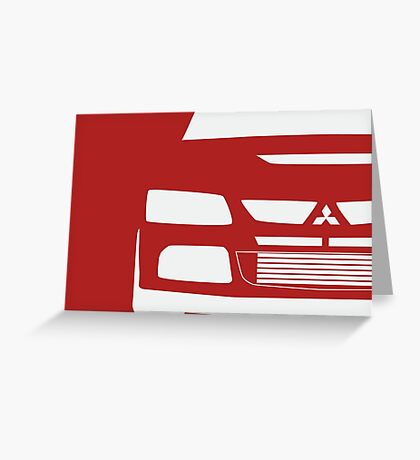 Mitsubishi Lancer Evolution Close Up Zoom - T Shirt / Phone Case Design  Greeting Card