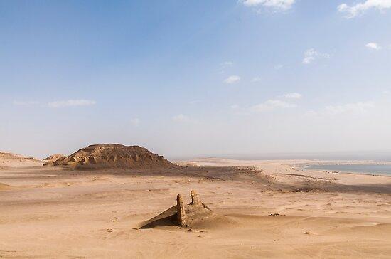 Desert scenery beyond Fayum Oasis by Michael Brewer