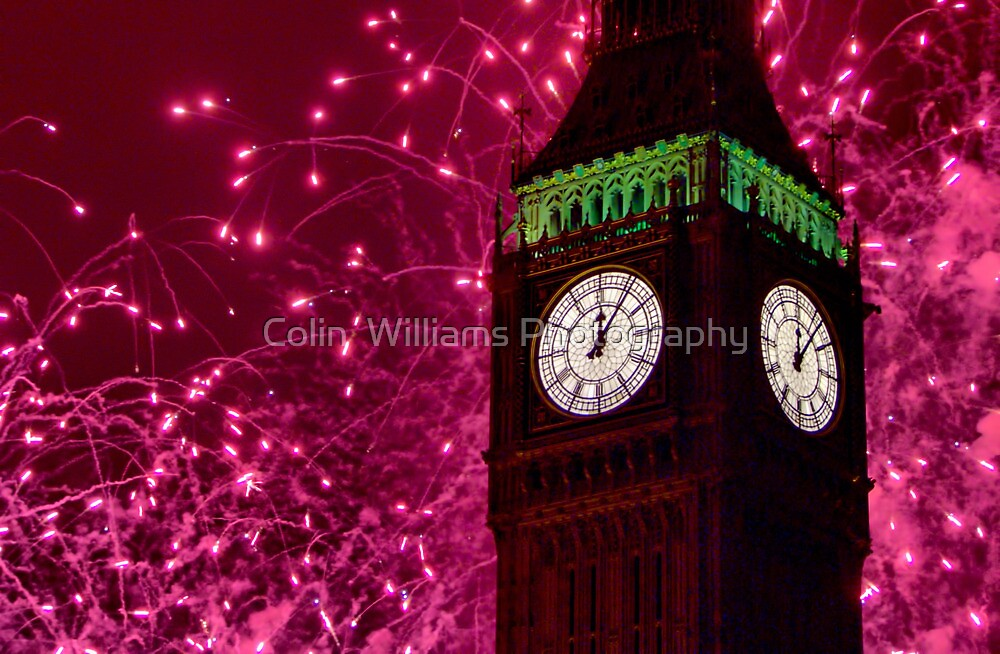 New Years Eve Fireworks London 2010 by Colin  Williams Photography