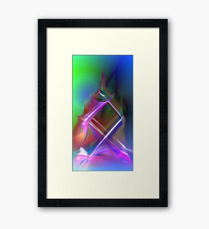 color caress Framed Print