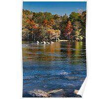 River Rocks At Mountain Fork Park Poster