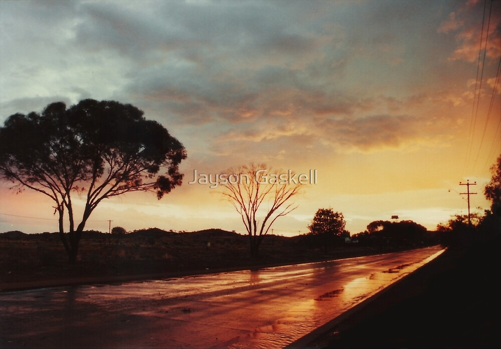 Wet Outback sunset by Jayson Gaskell