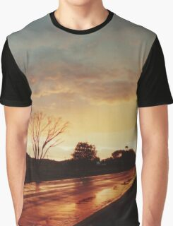 Wet Outback sunset Graphic T-Shirt