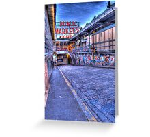 Pikes Place Market Seattle Greeting Card