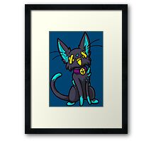 Felisneon Mew Framed Print