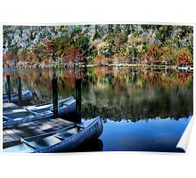 Canoes And Autumn Poster