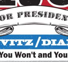Yauch for President Sticker