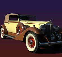 1933 Packard Super 8 1004 Victoria Convertible by TeeMack