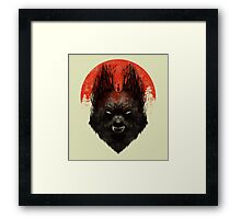Red Rising Moon Framed Print